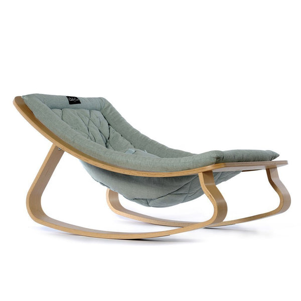 Charlie Crane Levo Baby Rocker in Beech and Aruba blue