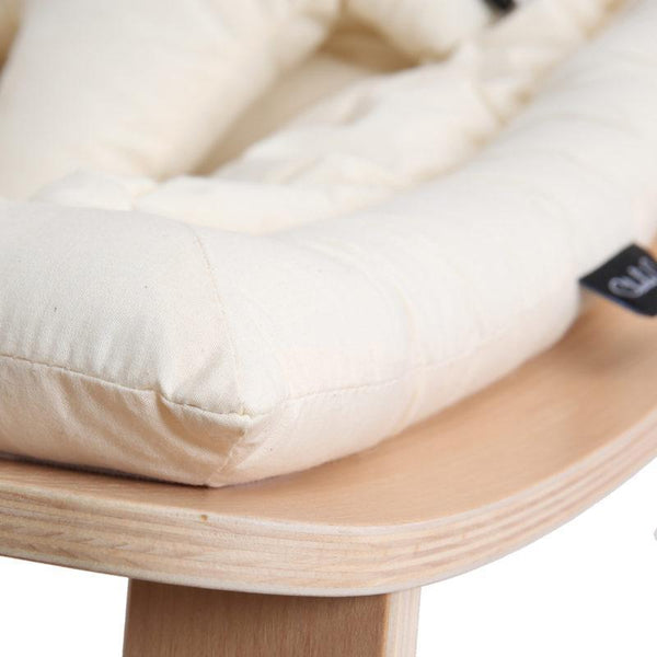 Charlie Crane Levo Baby Rocker in Beech and Organic Off White Seat