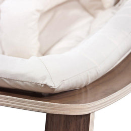 Charlie Crane Levo Baby Rocker in Walnut and white
