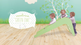 Children's slide - Green owl