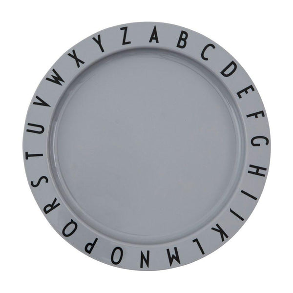 Design Letters Eat and Learn Plate in Tritan Grey