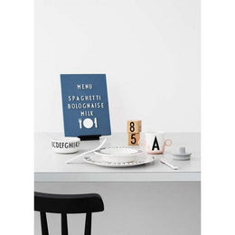 Design Letters Food Icons - White