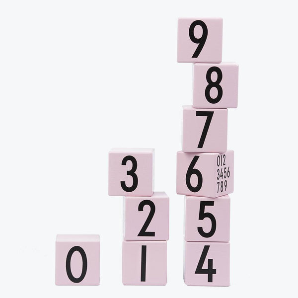 Design Letters - Number Cubes in Pink