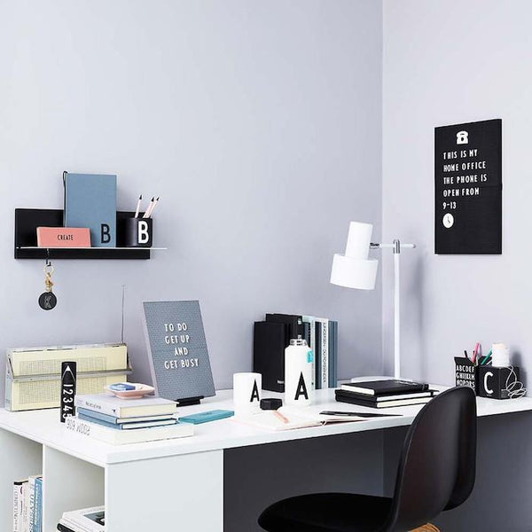 Design Letters Office Icons - Black