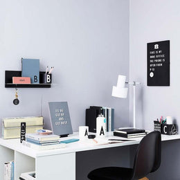 Design Letters Office Icons - White