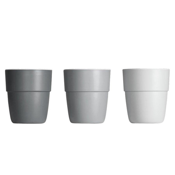 Done By Deer Yummy Mini Mugs in Grey (3 pack)