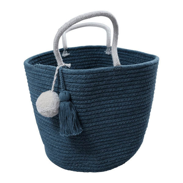 Fabelab Rope Basket in Blue Spruce