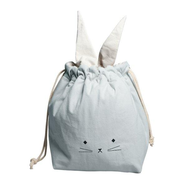 Fabelab Storage Bag Foggy Blue Cat - Small