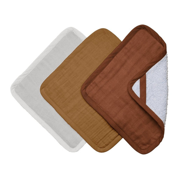 Fabelab Washcloths - 3 Pack Wood
