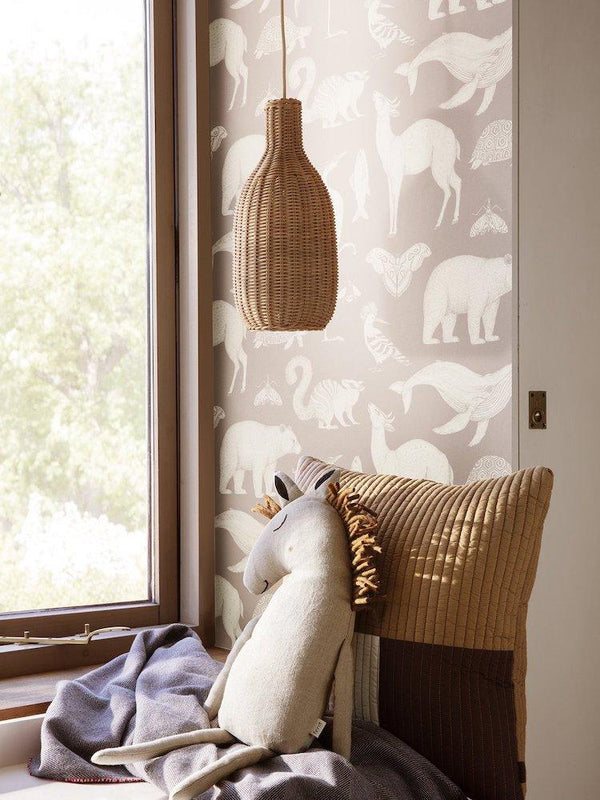 Ferm Living Braided Bottle Lampshade in Natural