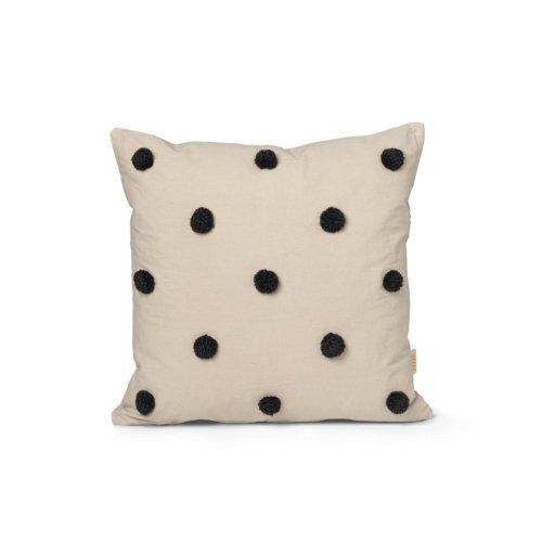 Ferm Living Dot Tufted Cushion in Sand/Black