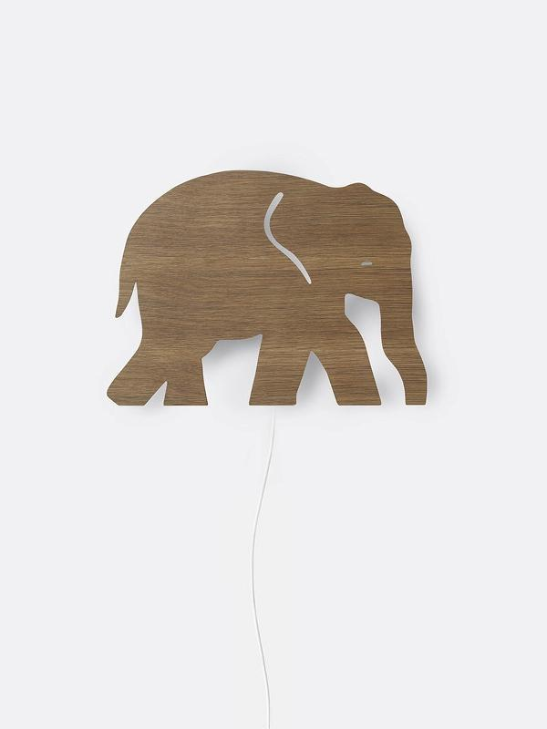 Ferm Living Elephant Lamp - Smoked Oak