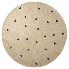 Ferm Living Jute Carpet Black Triangles