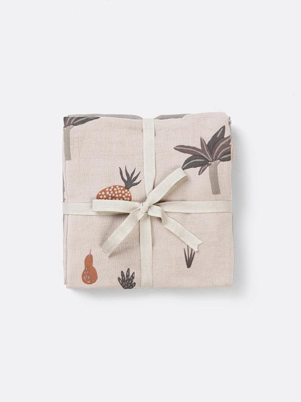 Ferm Living Muslin Cloths Fruiticana (set of 3)