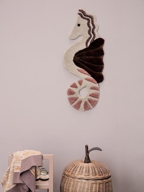 Ferm Living Seahorse Tufted Wall/Floor Rug Deco