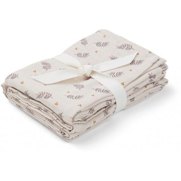 Liewood Hannah muslin cloth in Fern Rose Print (2 pack) - scandibornusa