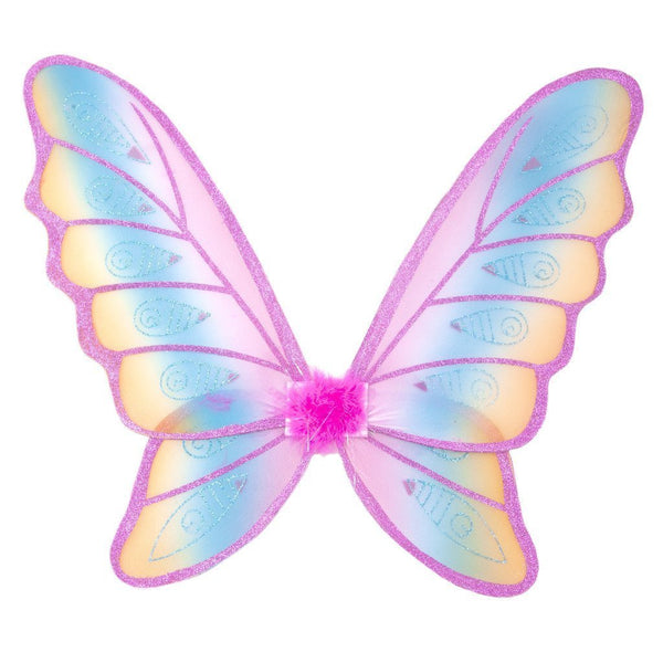 Great Pretenders Glitter rainbow Wings - Fuchsia