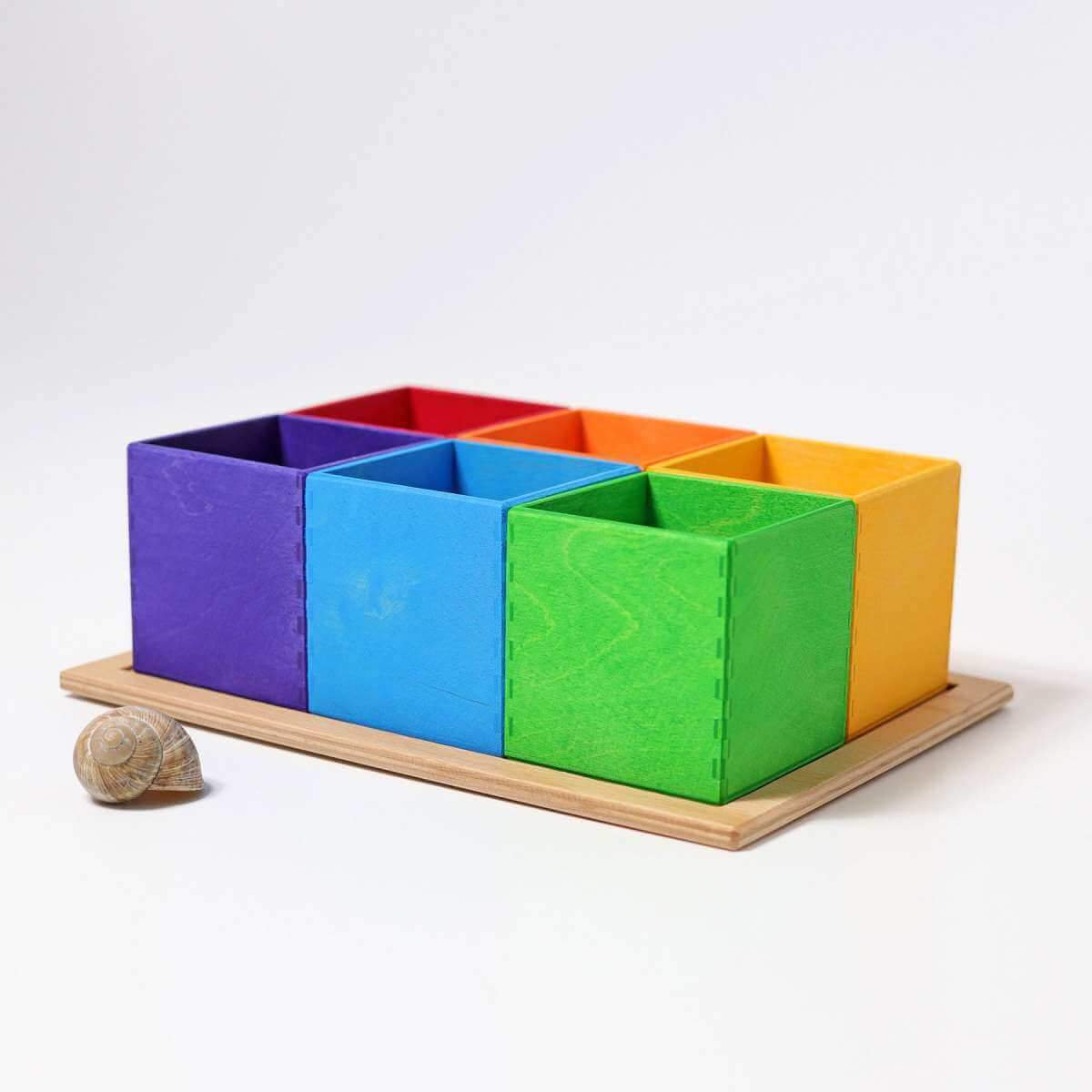Grimm's 6 piece sorting helper Rainbow - use it to create all sorts of games to teach colours