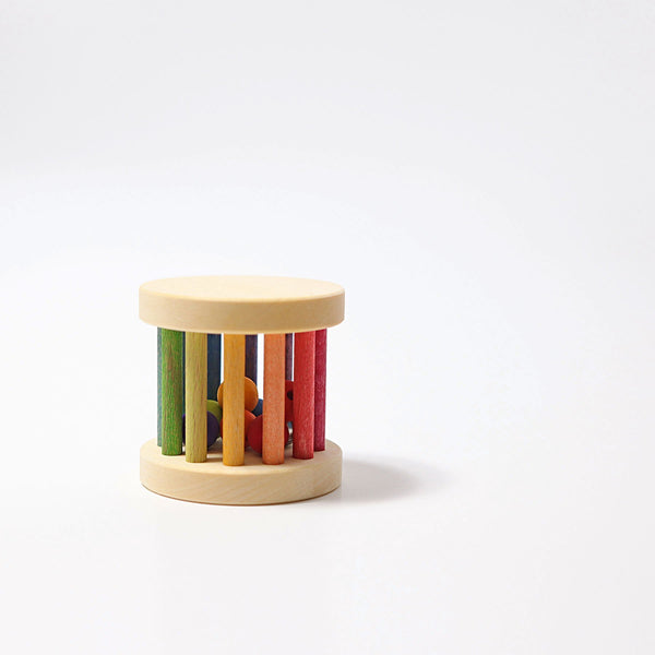 Grimm's Rainbow Rolling Wheel Mini Rattle