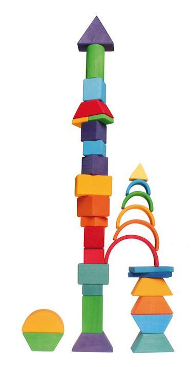 Grimm's Small Rainbow Toy (6 Piece)