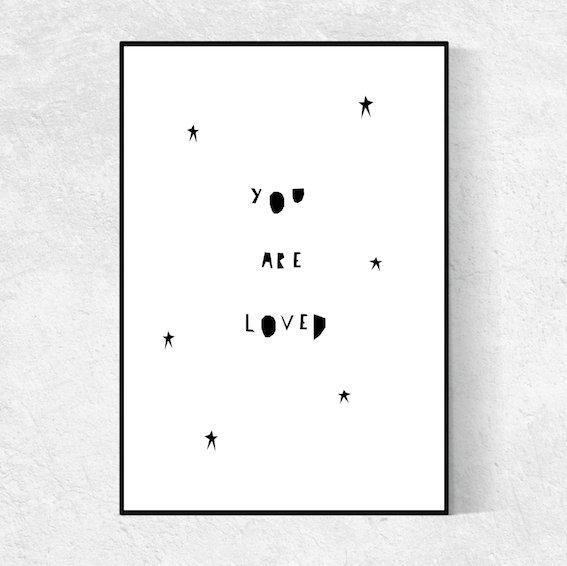 Ingrid Petrie You Are Loved print