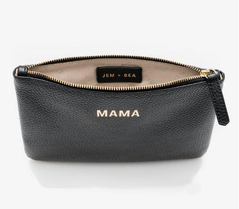 Jem and Bea Mama Clutch in Black