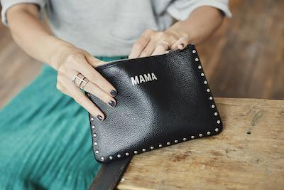 Jem and Bea Mama Clutch with Silver Studs