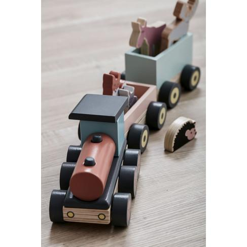 Kids Concept - Animal Wood Train