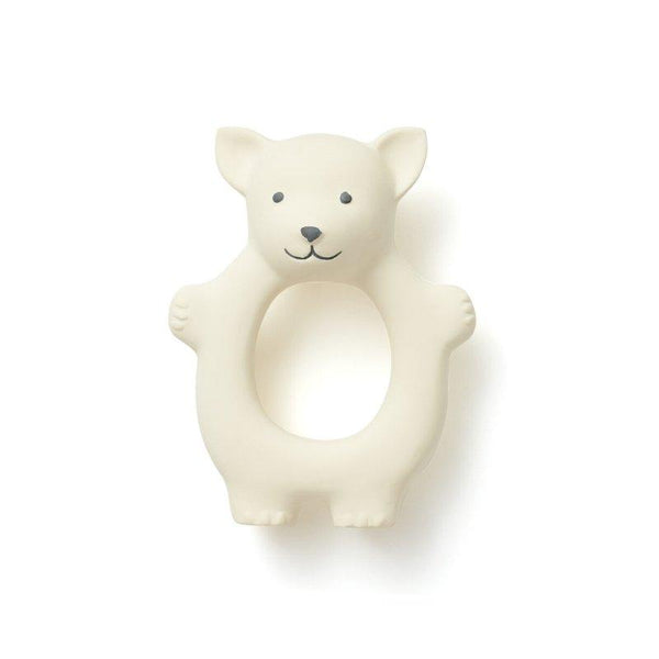 Kids Concept - Edvin Natural Rubber Fox Teether in White