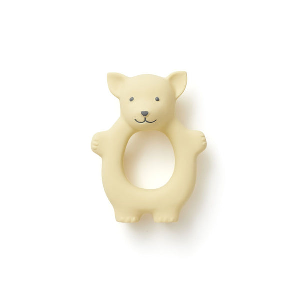 Kids Concept - Edvin Natural Rubber Fox Teether in Yellow