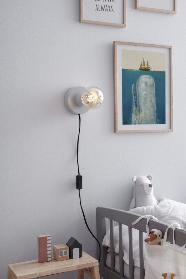 Kids Concept Table / Wall Lamp in Blue Grey