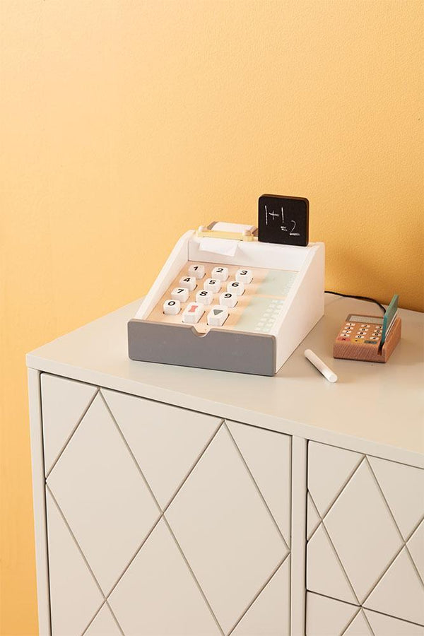 Kids Concept - Wooden Play Register in grey