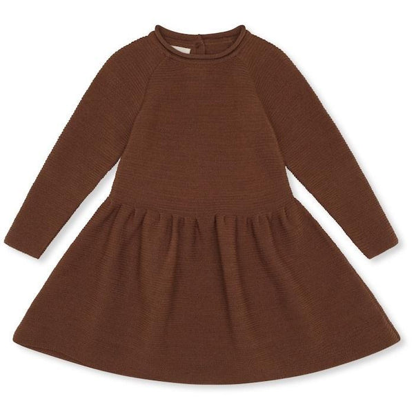 Konges Slojd Ballerina Dress Wool Knit in Toffee