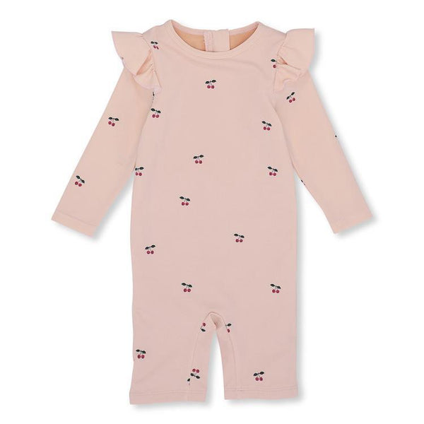 Konges Slojd Girl UV Suit in Cherry/Blush