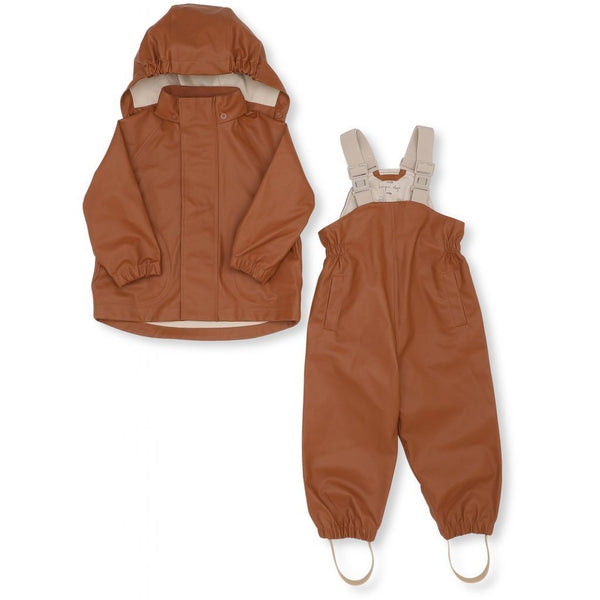 Konges Slojd Palme Rainwear Set Solid Cotton in Caramel