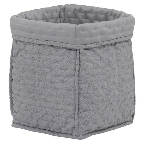 Konges Slojd Quilted Box in Sea Shell Storm Grey - Small