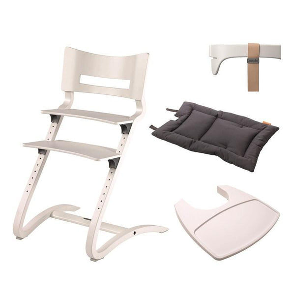 Leander High Chair Bundle in White