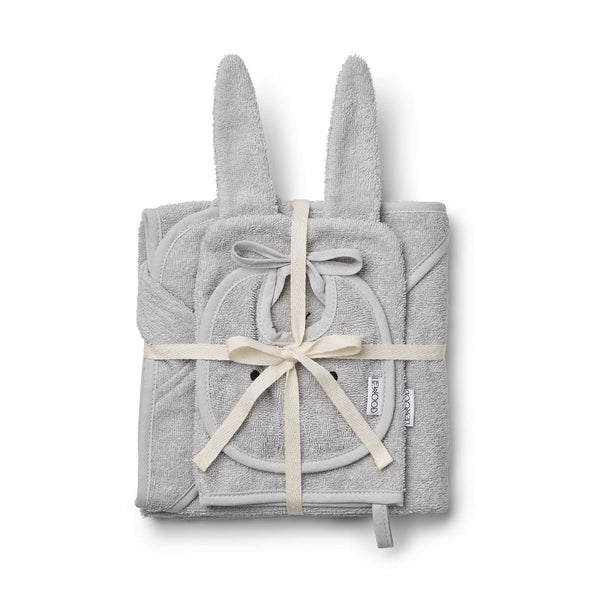 Liewood Adele Terry Baby Pack in Rabbit Dumbo Grey