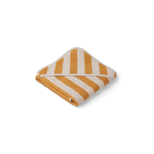 Liewood Alba Hooded Baby Towel  - Yellow Mellow / sandy