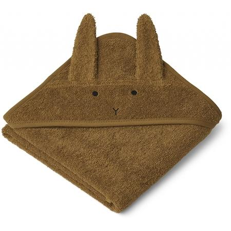 Liewood Albert Baby Towel in Rabbit Olive Green