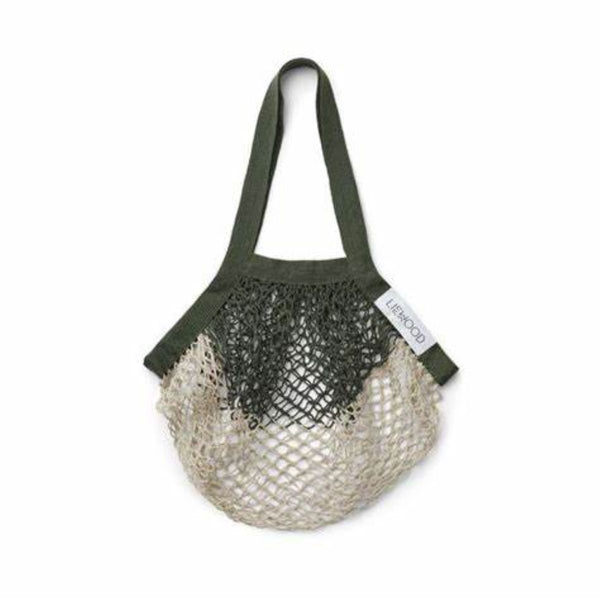 Liewood Aldo Mesh Tote Bag in Hunter Green/Sandy Mix