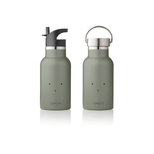 Liewood Anker Water Bottle - Rabbit Fawn Green