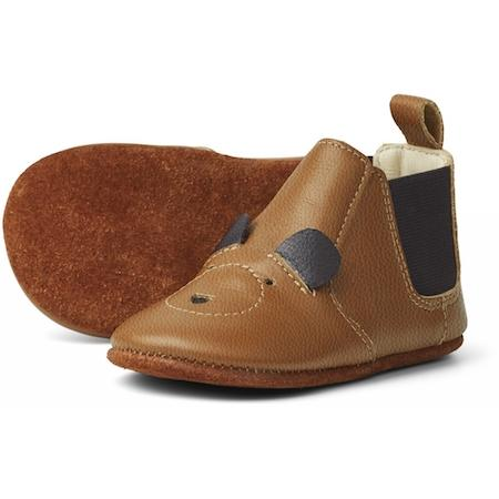 Liewood Edith Leather Slipper in Mr Bear Mustard