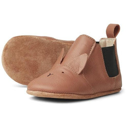 Liewood Edith Leather Slipper in Rabbit Tuscany Rose