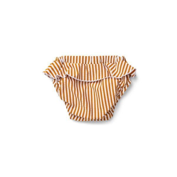 Liewood Elise Baby Girl Swim Pants Seersucker Mustard/White