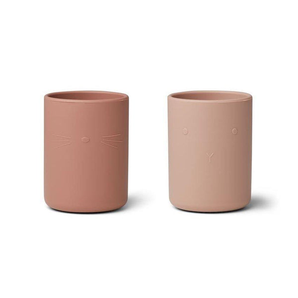 Liewood Ethan Silicone cup (2 Pack) - Rose Mix