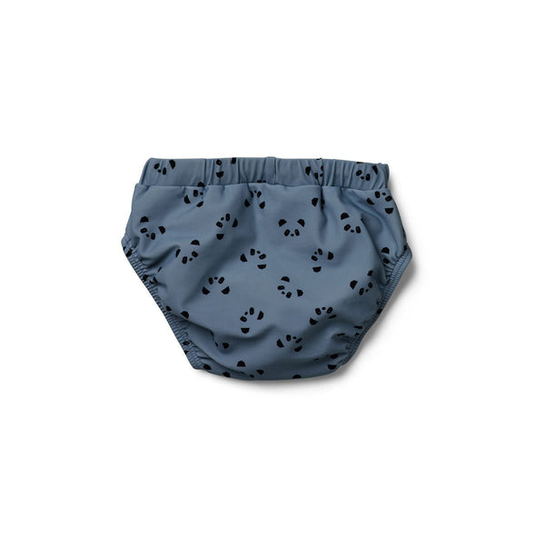 Liewood Frej baby boy swim pants Panda Wave Blue