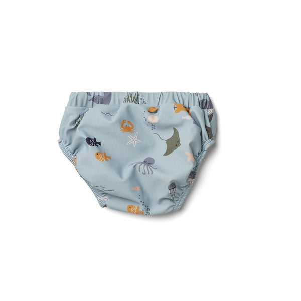 Liewood Frej baby boy swim pants Sea Creature Mix