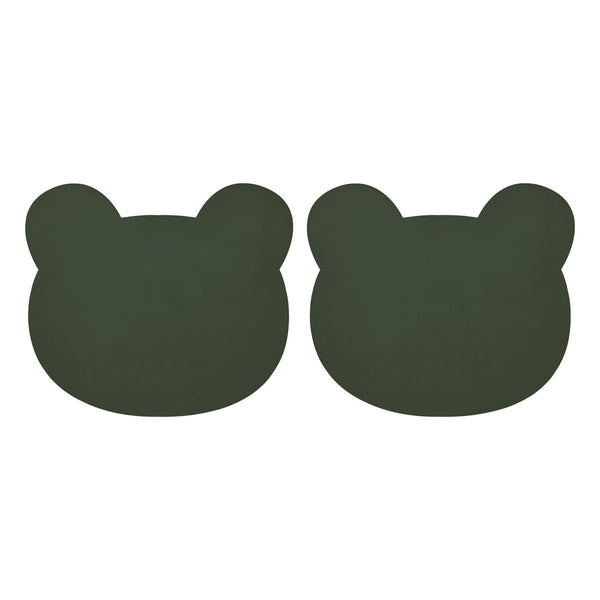 Liewood Gada Placemat 2-Pack - Mr Bear Hunter Green