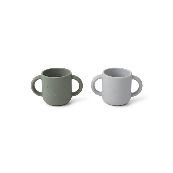 Liewood Gene Silicon cup (2 Pack) - Rabbit Green Faune